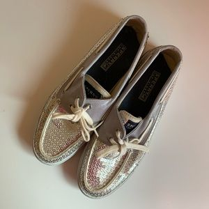Sperry Women's Sequin Boat Shoes Size 7.5
